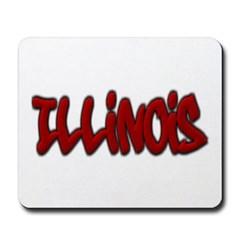 Illinois Graffiti Mousepad