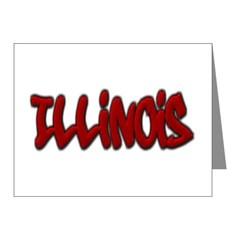 Illinois Graffiti Note Cards (Pk of 20)