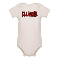 Illinois Graffiti Organic Baby Bodysuit