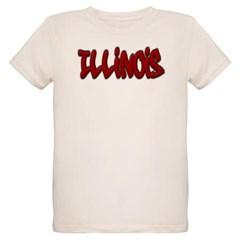 Illinois Graffiti Organic Kids T-Shirt