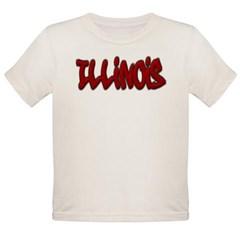 Illinois Graffiti Organic Toddler T-Shirt