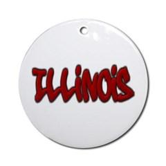 Illinois Graffiti Ornament (Round)