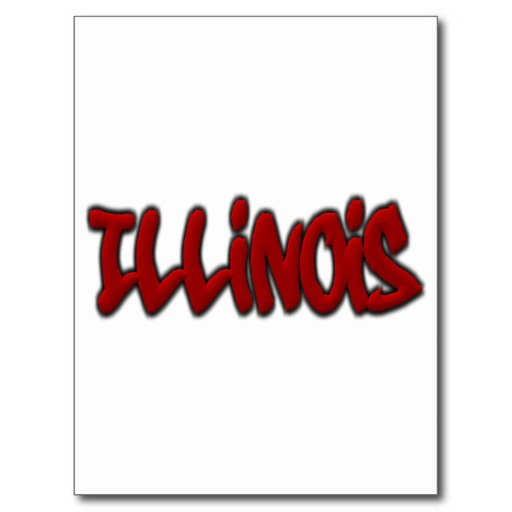 Illinois Graffiti Postcard