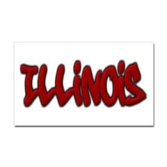 Illinois Graffiti Rectangle Decal