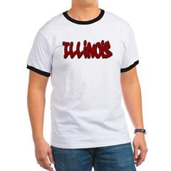 Illinois Graffiti Ringer T-Shirt