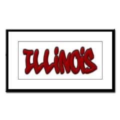 Illinois Graffiti Small Framed Print