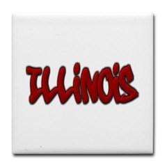 Illinois Graffiti Tile Coaster