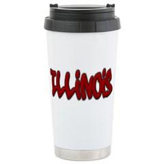 Illinois Graffiti Travel Mug