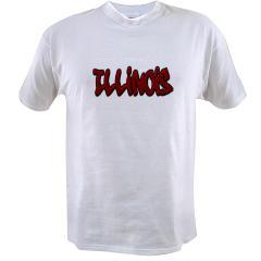 Illinois Graffiti Value T-shirt