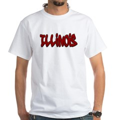 Illinois Graffiti White T-Shirt