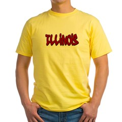 Illinois Graffiti Yellow T-Shirt