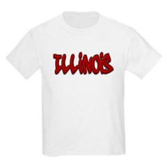 Illinois Graffiti Youth T-Shirt by Hanes