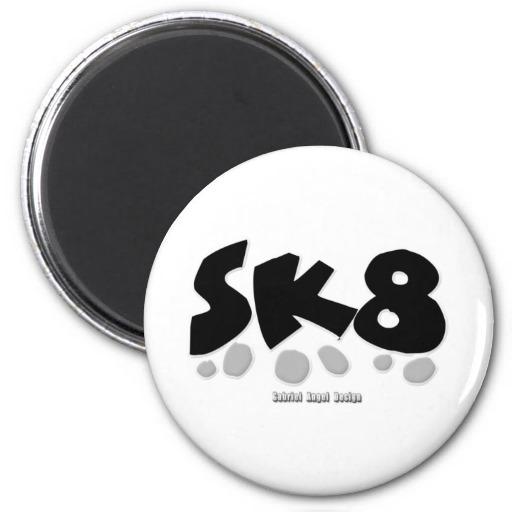 SK8 2 Inch Round Magnet