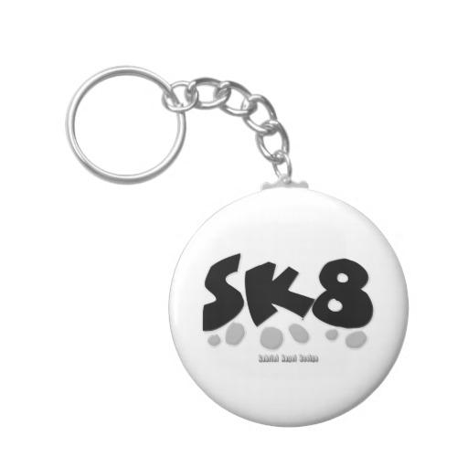 SK8 Basic Button Keychain