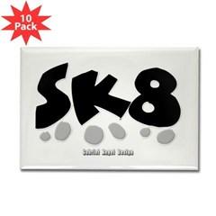 SK8 Rectangle Magnet (10 pack)