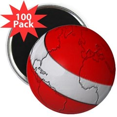"Scuba World 2.25"" Magnet (100 pack)"