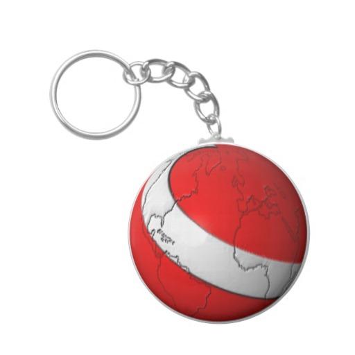 Scuba World Basic Button Keychain