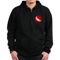Scuba World Dark Zip Hoodie
