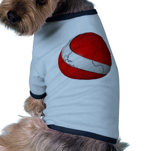 Scuba World Doggie Ringer T-Shirt