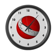 Scuba World Large Wall Clock