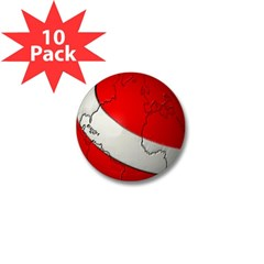 Scuba World Mini Button (10 pack)