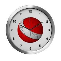 Scuba World Modern Wall Clock