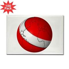 Scuba World Rectangle Magnet (100 pack)