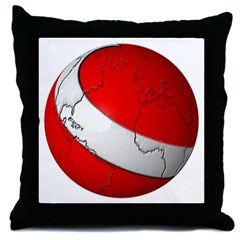 Scuba World Throw Pillow