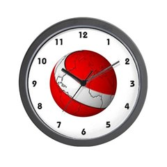 Scuba World Wall Clock