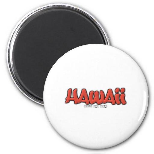 Hawaii Graffiti 2 Inch Round Magnet