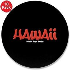 "Hawaii Graffiti 3.5"" Button (10 pack)"