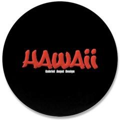 """Hawaii Graffiti 3.5"""" Button"""