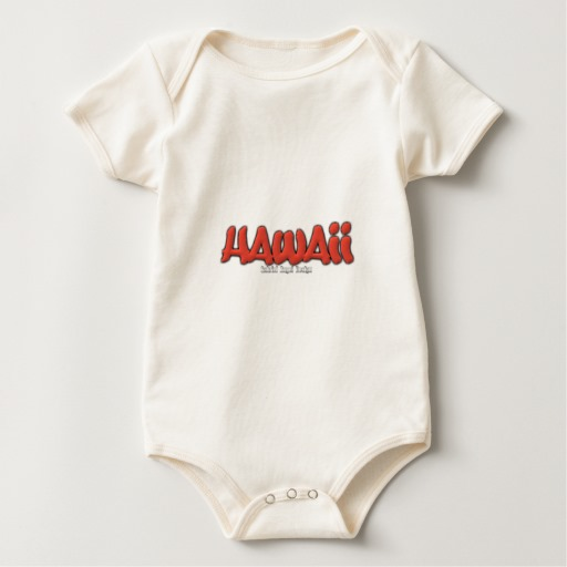 Hawaii Graffiti Baby American Apparel Organic Bodysuit