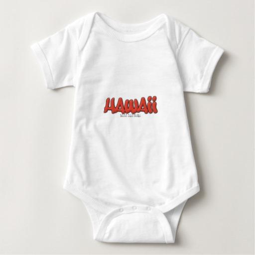 Hawaii Graffiti Baby Jersey Bodysuit