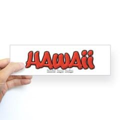 Hawaii Graffiti Bumper Sticker