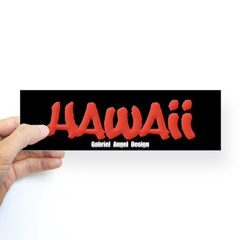 Hawaii Graffiti Bumper Sticker