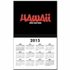 Hawaii Graffiti Calendar Print