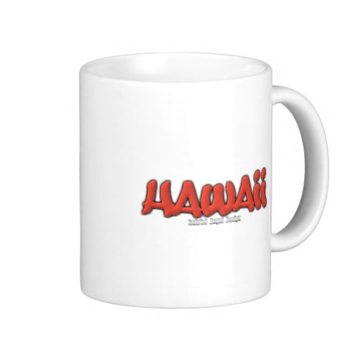 Hawaii Graffiti Classic White Mug