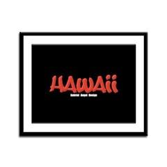 Hawaii Graffiti Framed Panel Print