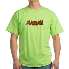 Hawaii Graffiti Green T-Shirt