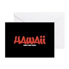 Hawaii Graffiti Greeting Card