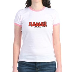 Hawaii Graffiti Junior Ringer T-Shirt