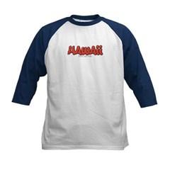 Hawaii Graffiti Kids Baseball Jersey T-Shirt
