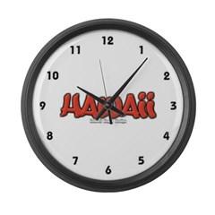 Hawaii Graffiti Large Wall Clock