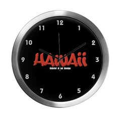 Hawaii Graffiti Modern Wall Clock