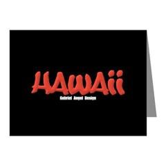 Hawaii Graffiti Note Cards (Pk of 20)