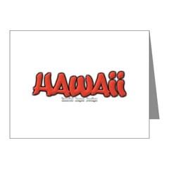 Hawaii Graffiti Note Cards (Pk of 10)