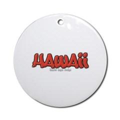 Hawaii Graffiti Ornament (Round)