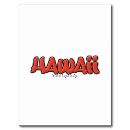 Hawaii Graffiti Postcard