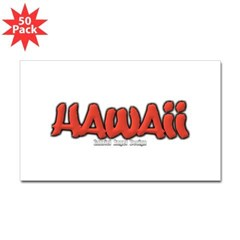 Hawaii Graffiti Rectangle Decal 50 Pack